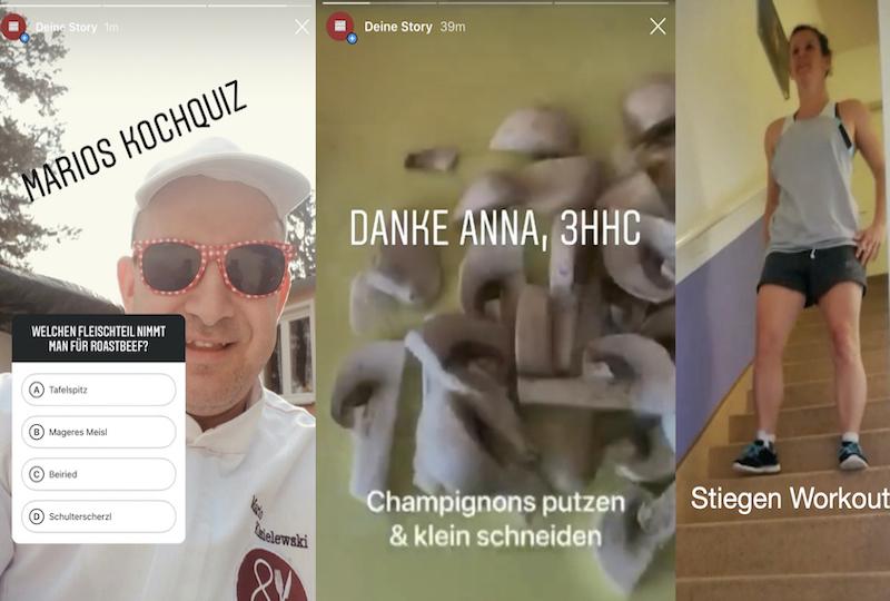 Instagram-Aktivitäten Bergheidengasse in Zeiten von Corona