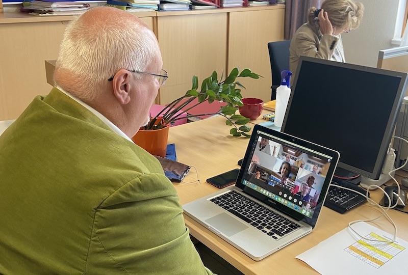 Beurteilungskonferenz über Video Bergheidengasse in Zeiten von Corona