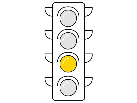 Corona-Ampel: Gelb