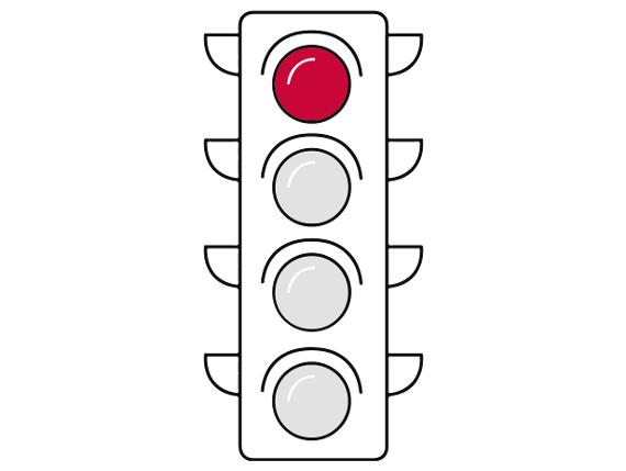 Corona-Ampel: Rot